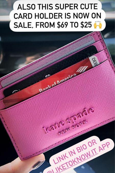 Card holder Kate Spade sale  http://liketk.it/2WtAW #liketkit @liketoknow.it