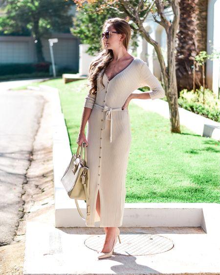 Beige knit dress http://liketk.it/3c862 #liketkit @liketoknow.it #LTKSpringSale #LTKstyletip #LTKeurope @liketoknow.it.europe