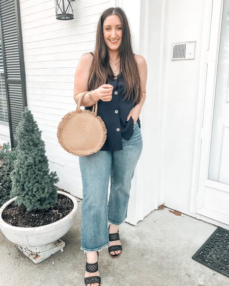 So ready for warmer weather! This top is available on Amazon and fits true to size.    http://liketk.it/3bc2I @liketoknow.it #liketkit #LTKSpringSale #LTKunder50 #LTKstyletip