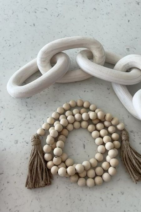 Amazon decor chain link & beads!   #LTKstyletip #LTKunder50 #LTKsalealert