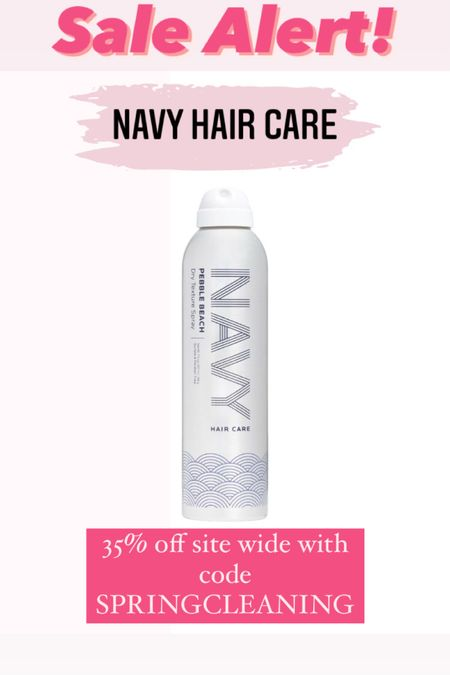 Navy Hair Care is having a site wide sale through March 31! Get 35% off with code SPRINGCLEANING. I've had my eye on this texture spray for awhile and just scooped it up! Hurry and grab your favorites.  #LTKbeauty #LTKunder50 #LTKSpringSale