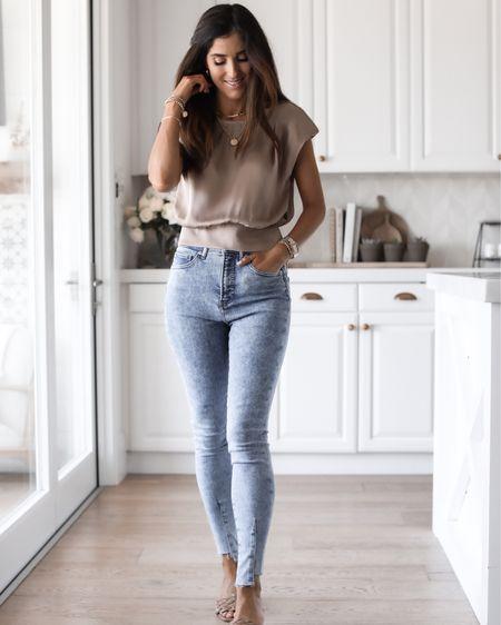 Express style, jeans, top, casual, StylinbyAylin,  #LTKstyletip #LTKunder100