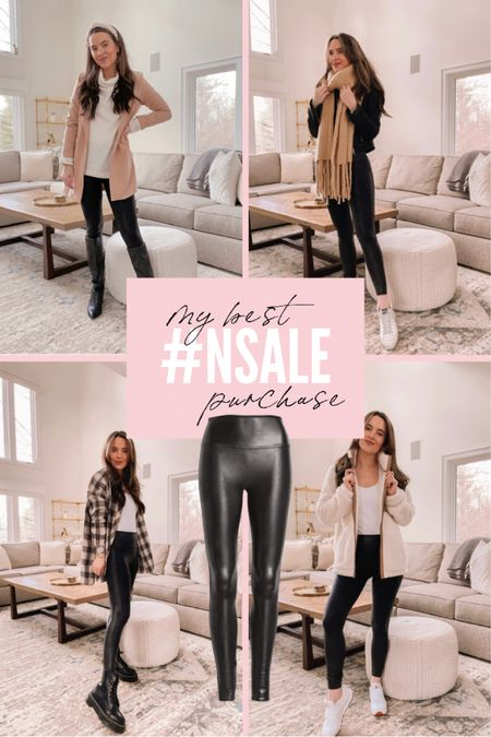 The best #NSALE purchase in my opinion is these Spanx faux leather leggings! I bought these a few years ago during the sale and have gotten so much use out of them! They definitely run small, I sized up one size and get the regular length (I'm 5'5). Get them for $65 before they sell out!   #LTKsalealert #LTKunder100