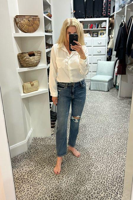 Great everyday look under $100! Size S blouse, jeans fit TTS     #LTKstyletip #LTKunder100