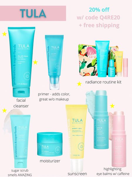 20% off SITEWIDE at Tula.  Code: Q4RE20  Skincare, Tula sugar scrub, Tula eye balm, facial cleanser, Tula sunscreen, Tula tinted moisturizer, beauty products   http://liketk.it/3hYi4   #liketkit @liketoknow.it I #LTKbeauty #LTKsalealert #LTKunder100