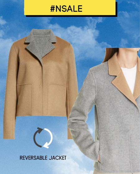 A fabulous reversible wearable jacket! Covet this & add to your Nordstrom Anniversary Sale Wish List when the sale starts on 28th July. Card holders get early access from 12th July.   Don't miss this beige & marl grey reversible short jacket by  Lafayette 148 New York   #nsalealert #nsale #nordysale   #LTKeurope #LTKsalealert #LTKstyletip