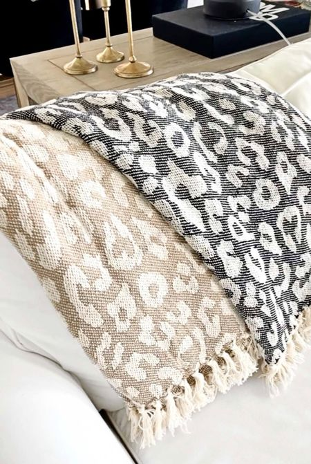 Amazon home, Amazon finds, white sofa, white couch, leopard decor, fall Decor, Fall throw, fall living room,   #LTKunder50 #LTKhome #LTKstyletip