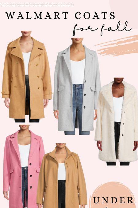 Walmart coats for fall, all under $50!   #LTKSeasonal #LTKunder50 #LTKstyletip