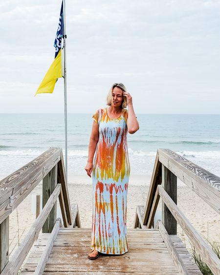 Casual summer beach tie dye short sleeve comfortable maxi dress #tiedye #tiedyedress #summerdress #dress #shortsleeve #summer #beach #casual #comfortable #petite #vacation #travel #maxidress #trendstowatch #lifestyle http://liketk.it/3h5tD @liketoknow.it #liketkit