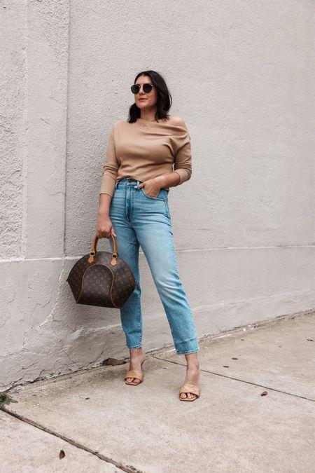 I'm in the medium of the top — TTS! I'm in the 28 of the jeans, TTS.