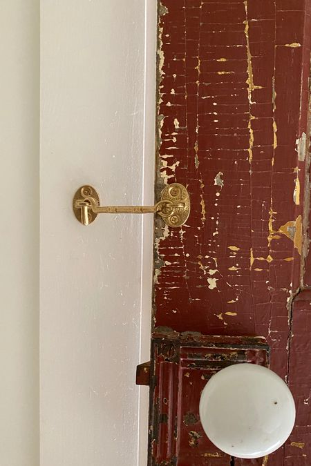 Amazon hook eye latch. Comes in gold and copper. Love the impact that these smallest of details can have on a space.   #LTKhome