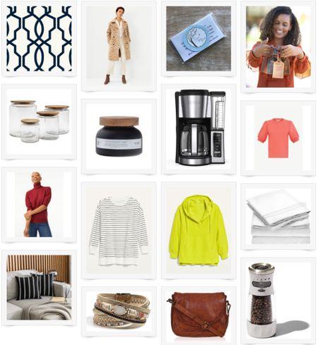 August Good Things List, Fall fashion, wallpaper, kitchen gadgets, coffee maker, sweatshirt tunic, sheets, Amazon Home, pillows   #LTKunder50 #LTKhome