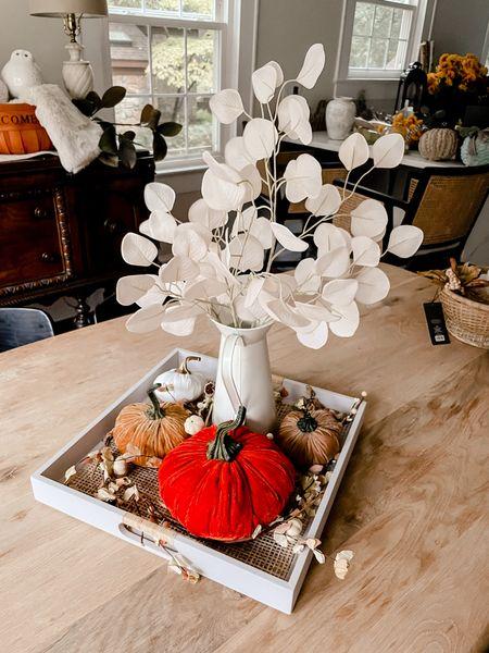 Fall Decoration tabletop coffee table decor autumn velvet pumpkins target Amazon Michael's  #LTKSeasonal #LTKhome #LTKHoliday