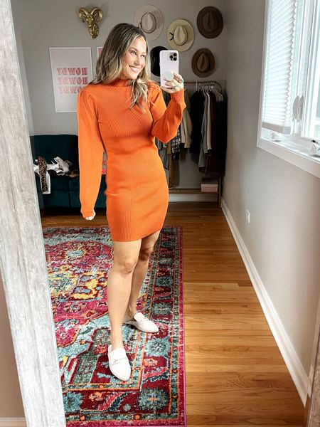 Amazon finds for fall! This sweater dress is so cute and would be perfect for fall family photos, these mules are also an amazon fashion find!  #LTKfamily #LTKshoecrush #LTKunder50