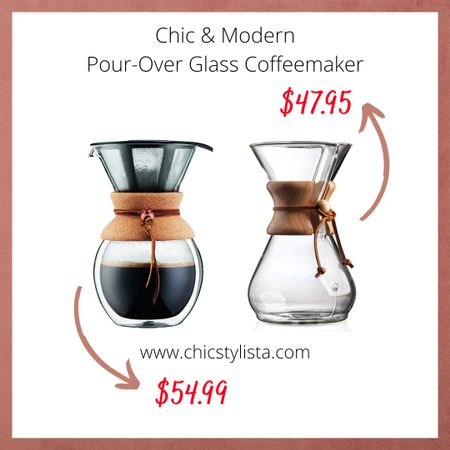 I've fallen in love with both of these Pour Over Coffee Makers! I just want them displayed in my kitchen, the design is so chic & modern. http://liketk.it/2SGJ5 @liketoknow.it #liketkit #LTKhome #LTKunder50 #coffeemaker #amazon