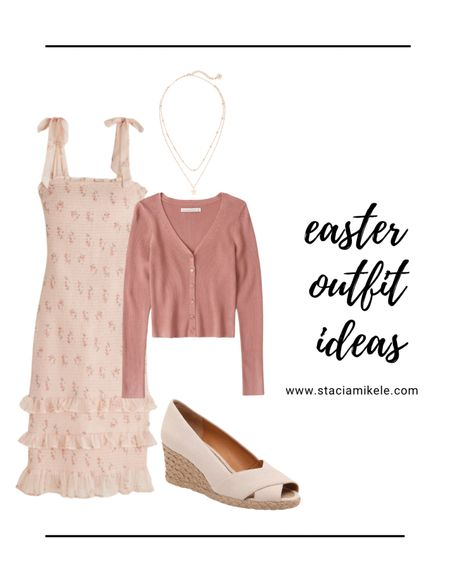Easter outfit idea. Abercrombie dress DSW espradille shoes