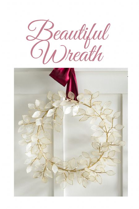 Unique wreath for fall and winter White and gold, seasonal decor, home decor, fall decor    #LTKhome