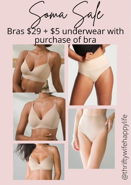 Soma bras on sale for $29 + get $5 underwear with purchase of bra!!   #LTKunder50 #LTKsalealert #LTKunder100