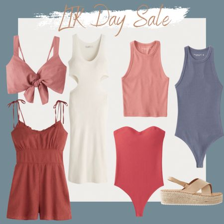 http://liketk.it/3gV52 @liketoknow.it #liketkit #LTKsalealert #LTKDay #LTKunder100 Summer dress, bodysuit, crop top, espadrille platform sandals, cut out midi dress, summer style, vacation outfit, beach vacation, romper, tie front linen top, tie strap romper, seamless ribbed strapless bodysuit, ribbed scuba tank, ribbed scuba tank bodysuit, summer outfit