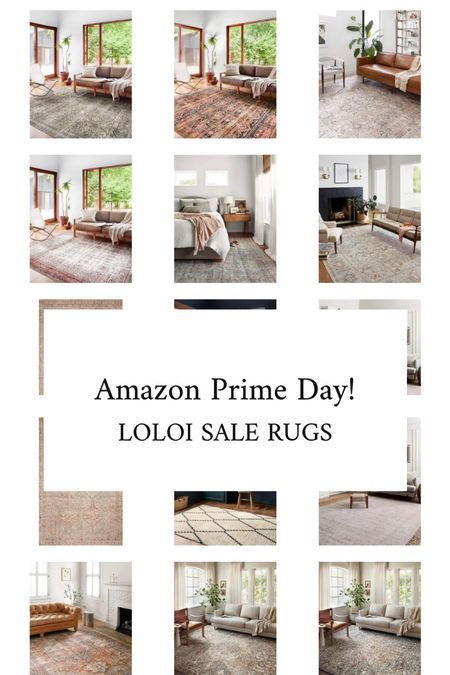 Amazon prime day sale picks including loloi rugs, Chris loves Julia for loloi, vintage inspired rugs, and colorful rugs.   #LTKsalealert #LTKhome
