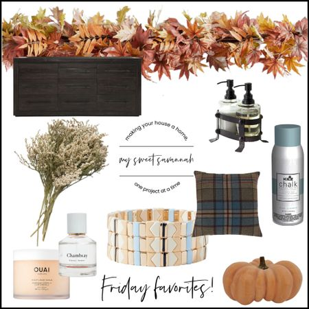Friday favorites are looking a bit more colorful this week! Inspired by all the beautiful hues of Fall, this great leafy garland, chalky spray paint, apricot pumpkins, dried florals, the best hair treatments and more!   #LTKSeasonal #LTKGiftGuide #LTKstyletip