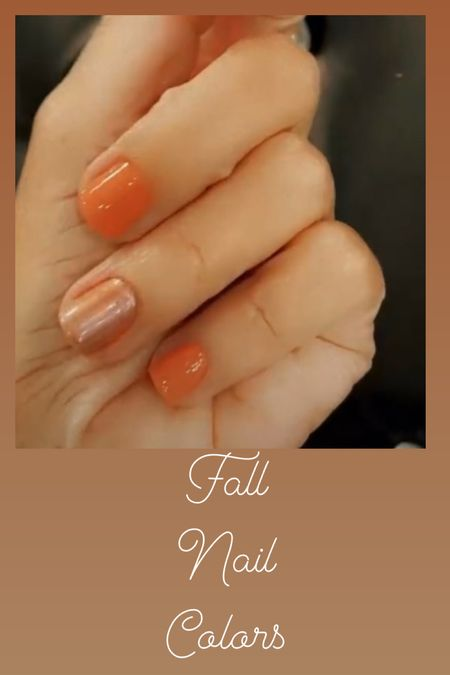 Fall Nails Colors 🍂🍁🧡  #LTKHoliday #LTKbeauty #LTKstyletip