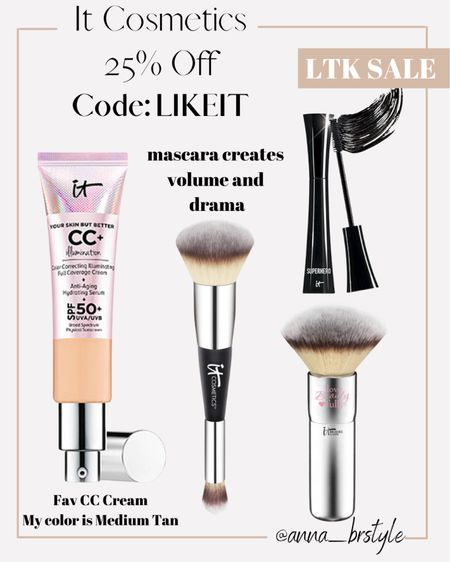 It cosmetics 25% off #anna_brstyle  #LTKSale