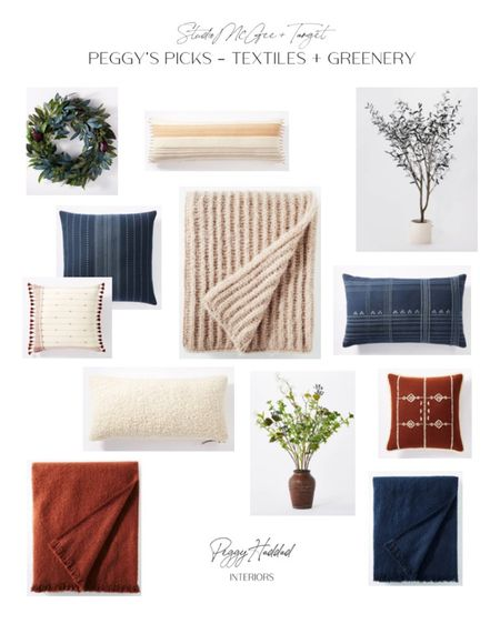 Target with Studio McGee greenery, throw pillows and throw blankets, rust, blue, Sherpa, Boucle, olive tree // Peggy's Picks // Fall Collection    http://liketk.it/2WqUo #liketkit @liketoknow.it #StayHomeWithLTK #LTKhome @liketoknow.it.home