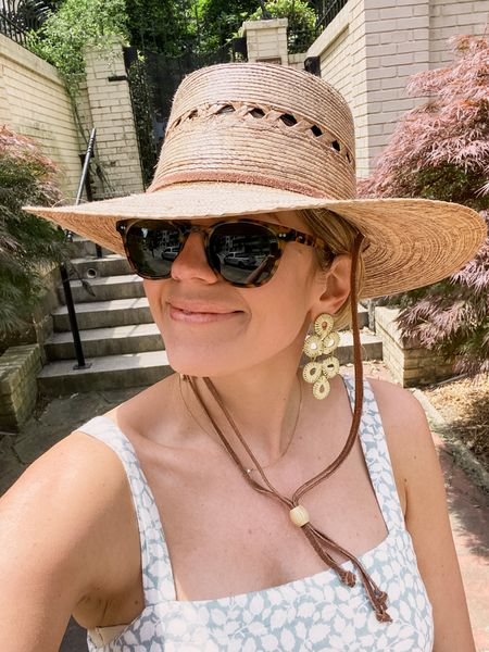 Practicing safe sun this weekend with a big hat and great sunglasses. Found an #amazonfashion dupe of these sunglasses linked below. #sunhat #amazonfinds   #LTKSeasonal #LTKunder50
