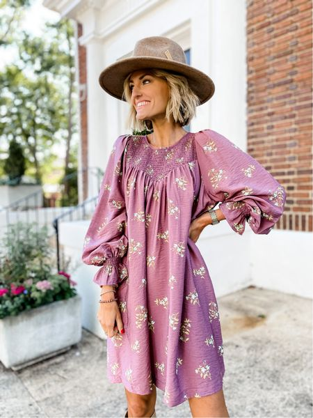Can't stop, won't stop with the beautiful floral dresses for fall 🙌🏼 This dress is family photo approved from @targetstyle 💕 Has a removable belt & is complete with pockets. Runs a little big but would suggest going with your normal size. \\ Shop the details by following me in the @shop.LTK app  #targetstyle #targetpartner #target #ltkunder100 #ltkunder50