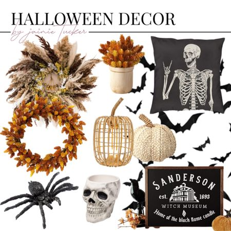 Halloween decor and house finds for the fall season! | #homedecor #halloweendecor #homefinds #halloweenhome #homedecor #seasonalhomedecor #walldecor #falldecor #pumpkindecor #skeletondecor #skeletonfinds #JaimieTucker   #LTKSeasonal #LTKhome #LTKHoliday