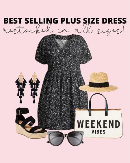 This plus size summer dress has been so popular and it just restocked in all sizes! Grab it to wear as a casual summer outfit and even wear it into fall with a jacket and booties!   #LTKcurves #LTKunder50 #LTKstyletip