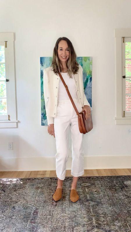 When in doubt, all white, plus some warm neutrals does the trick!   #LTKworkwear #LTKshoecrush #LTKstyletip