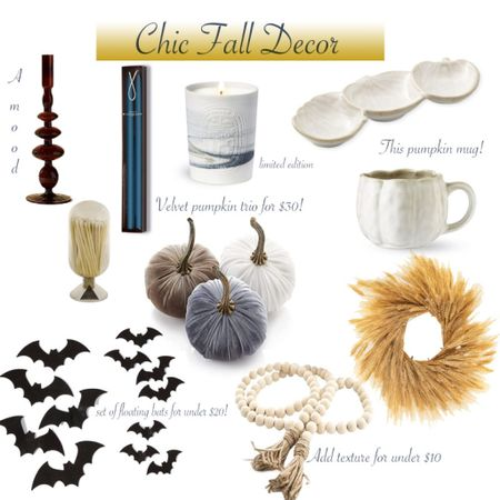 Chic and affordable fall decor for your home amazon home  fall decor home decor pumpkin decor  #LTKSeasonal #LTKhome #LTKunder100