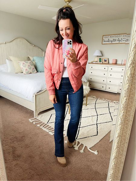 Quilted bomber jacket from Target for under $50 - in an XS