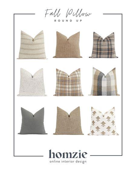 Fall pillows, fall throw pillows, plaid pillow, rust pillow, brown pillow, stripe pillow, fall decor, fall styling   #LTKunder50 #LTKhome #LTKSeasonal