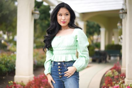 Puff Long Sleeve Square Neck Smocked Waist Top in Mint! Mint green puff sleeve top!  Pair with button up blue jeans and a butterfly choker!   Spring is here! Refresh your wardrobe with a spring green top!   #LTKunder50 #LTKSeasonal
