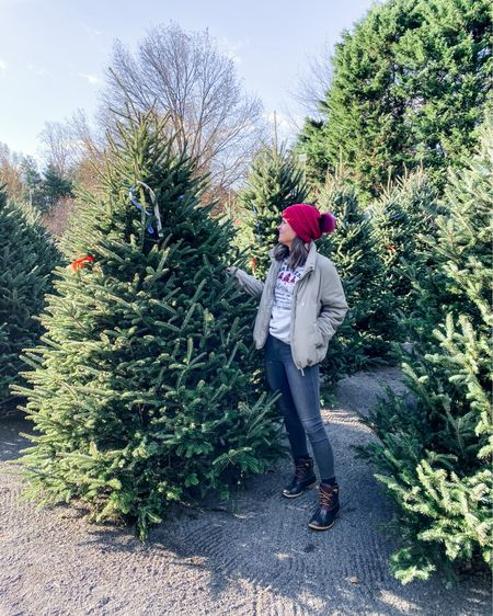 Picked out my first REAL tree in YEARS this morning 🎄💚 My mom is allergic to pine so after one too many reactions over the years, our fam transitioned to an artificial tree accompanied with scented pine candles 🌲🕯...it's not the same, no matter how hard someone tries to convince you 😂   Never have I ever embraced getting into the Christmas spirit before Thanksgiving but hey, this year NEEDS something positive & right now, it's all things fa la la la la for me 🎅🏼 🥳 @sicklesmarket must also agree because they just got a whole bunch of gorgeous trees of all sizes delivered yesterday 😍 Also if you want a laugh, be sure to watch my Stories to see how I got this tree home without a roof rack 😜  Outfit details linked on my @liketoknow.it  👉🏼 http://liketk.it/31vuQ #liketkit #ltkholiday