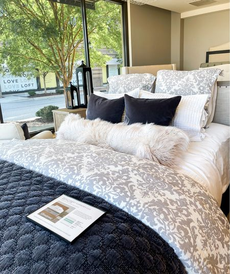 Cozy bedding for fall and winter from pottery barn home decor   #LTKSeasonal #LTKhome