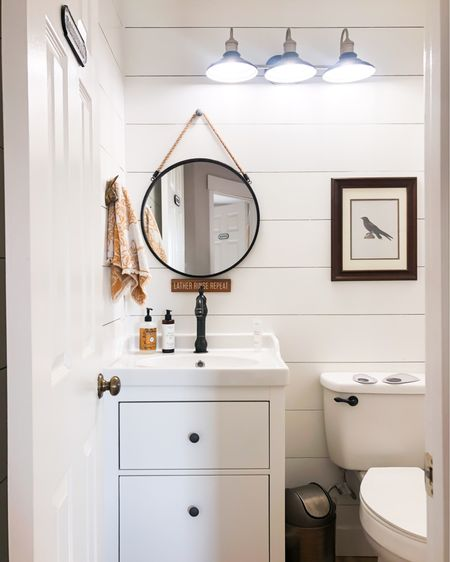 Powder Bathroom @liketoknow.it #liketkit http://liketk.it/30LER Shop your screenshot of this pic with the LIKEtoKNOW.it shopping app #StayHomeWithLTK #LTKhome