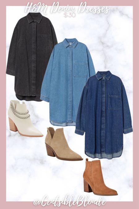 Denim dresses for Fall under $30 Long sleeves denim dresses   #LTKshoecrush #LTKunder50 #LTKSeasonal