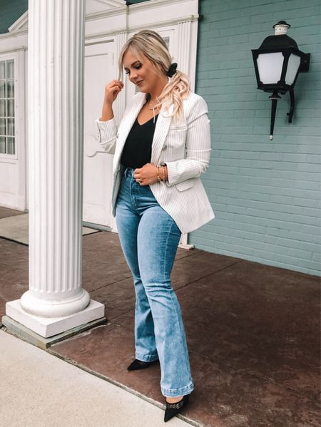 BLAZERS are like an accessory in my book 📚 & a girl can never have too many! 🙌🏼💕 {ad.} This @express blazer is an elevated basic that also makes such a statement on its own! 😍 Wear it dressed down with a hoodie & denim shorts or spice it up with a LBD & heels and let the blazer speak for itself. This is my personal favorite way to style a blazer 👆🏼- a classy/casual with jeans thrown into the mix! 👖✨ . . Shop this look by following me on the LIKEtoKNOW.it app & to find out more information on Express! #ExpressPartner #Sponsored #liketkit @shop.ltk #9to5 #businesscasual #petitefashion #petitestyle Follow my shop on the @shop.LTK app to shop this post and get my exclusive app-only content!  #liketkit #LTKworkwear #LTKstyletip