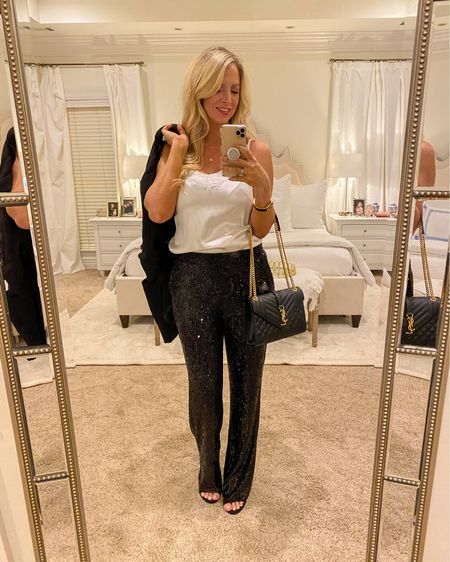#liketkit @liketoknow.it date night outfit, black sequin pants, express sequin paints. http://liketk.it/39rii
