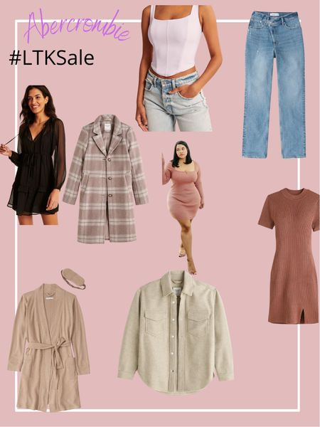 Abercrombie & Fitch - 25% off   Fall Fashion / Shackets / Sweater Dresses / Corsets / Coats / Jeans  #LTKunder100 #LTKSale