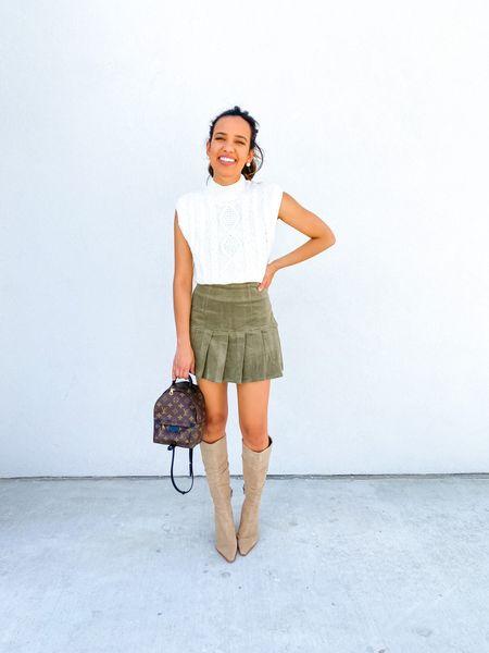 Forever21 finds, sweater top, pleated skirt   #LTKsalealert #LTKunder100 #LTKunder50