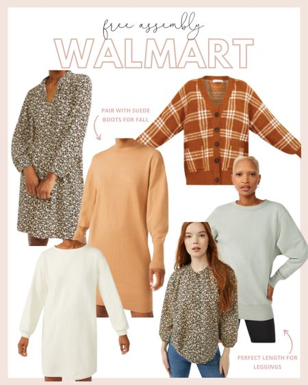 Walmart new arrivals from feee assembly are so good! Loving all the fall dresses and tops. Perfect for a casual date night or pair with heels and wear to work.   #LTKstyletip #LTKworkwear #LTKunder50