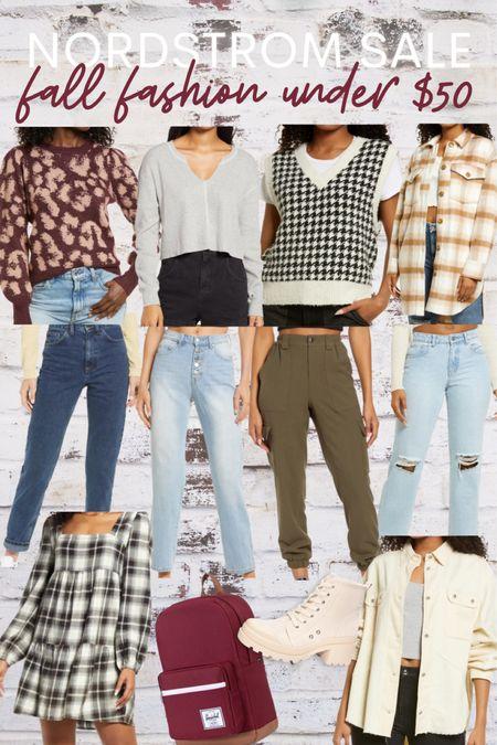 Nordstrom, sale, fall, autumn, fashion, trend, affordable, sweater, plaid, jacket, shacket, jeans, cargo, backpack, boots   #LTKsalealert #LTKstyletip #LTKunder50