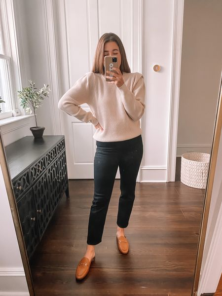Coziest sweater and must have loafers ❤️