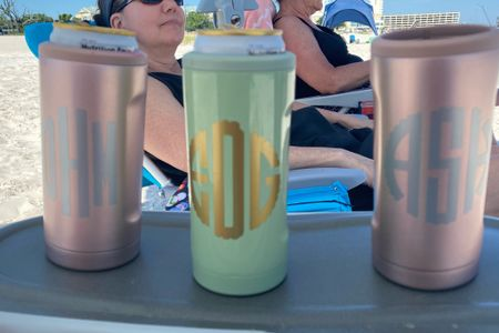 The perfect girly beach or pool companion.  Why not have it monogrammed for  girls trips or wedding party gifts.  #weddinggifts #brumate #gifts #tumblers  #LTKunder50