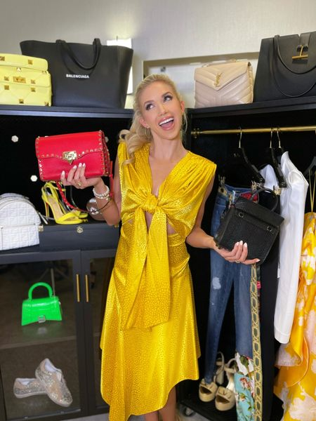 The perfect yellow summer dress for Saturday brunch, weddings, and even for the boss babe. Wherever life takes you, bring your own sunshine!☀️  #ltki  #LTKfit #LTKitbag #LTKstyletip